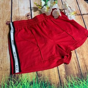 PINK Victoria's Secret Shorts - WOMEN PINK VS RED TRACK SHORTS SIZE MEDUIM